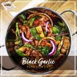 Black Garlic Pork Stir Fry