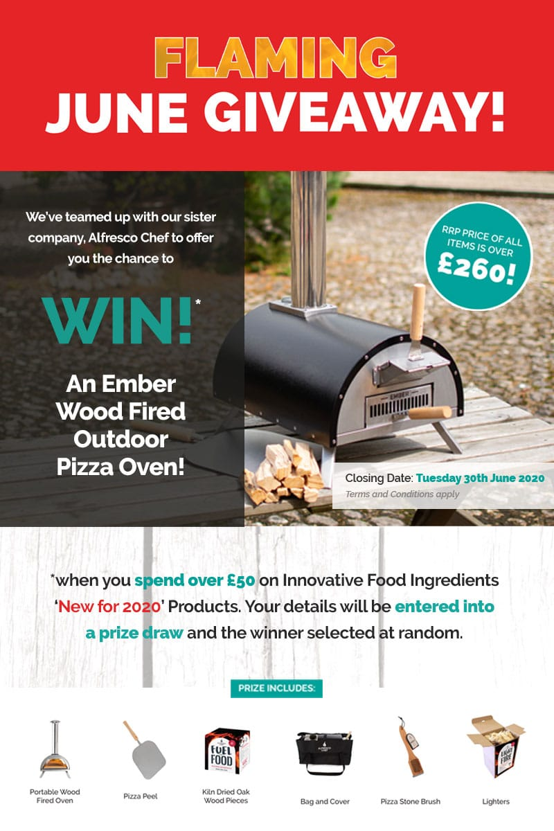 Prize Draw entry - win an Ember Pizza Oven