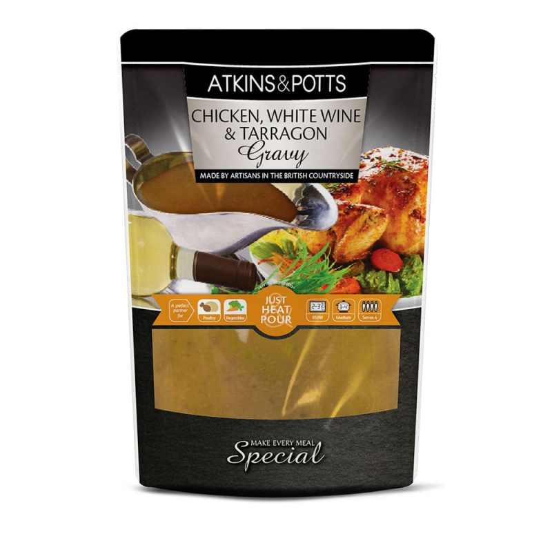 Atkins & Potts Chicken, White Wine & Tarragon Gravy