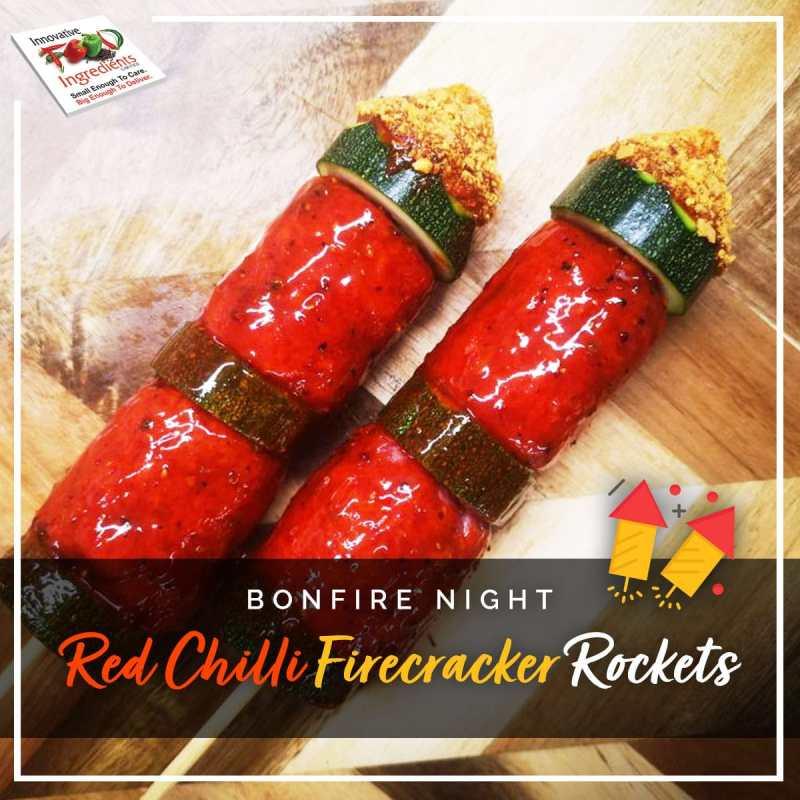 Bonfire Night Red Chilli Firecracker Rockets