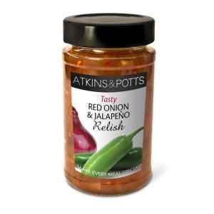 Atkins & Potts Red Onion and Jalapeño Relish