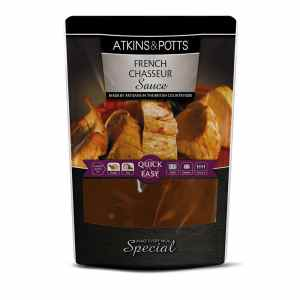 Previous pack design of Atkins & Potts Chasseur Sauce