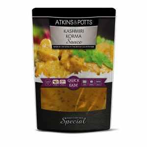 Previous pack design Atkins & Potts Kashmiri Korma Sauce