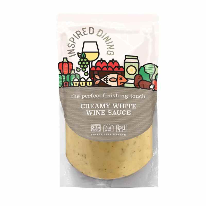 Inspired Dining Classic Creamy White Wine Pour Over Sauce