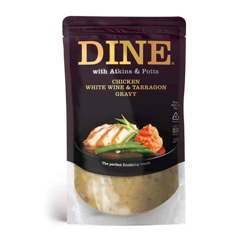 DINE IN with Atkins & Potts Chicken, White Wine & Tarragon Gravy