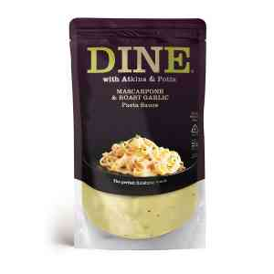 DINE IN with Atkins & Potts Mascarpone and Roast Garlic Pasta Sauce