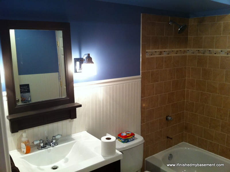 basement bathroom - one mans quest to finish his basement