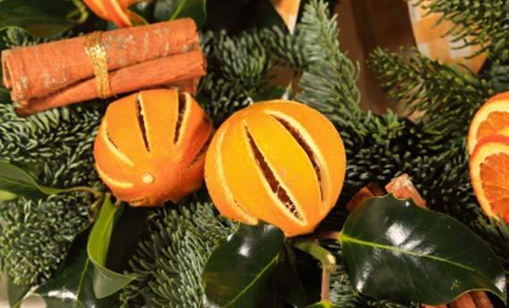 arance essiccate come decorazione natalizia