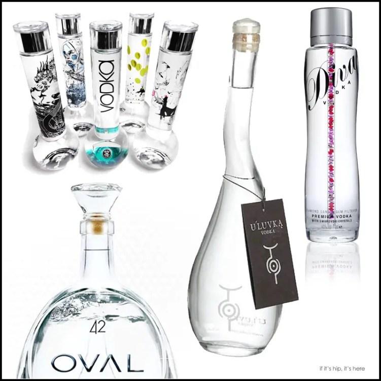 premium vodka bottles