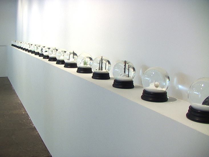 """Installation Viewof """"Travelers"""" at PPOW Gallery, 2003"""