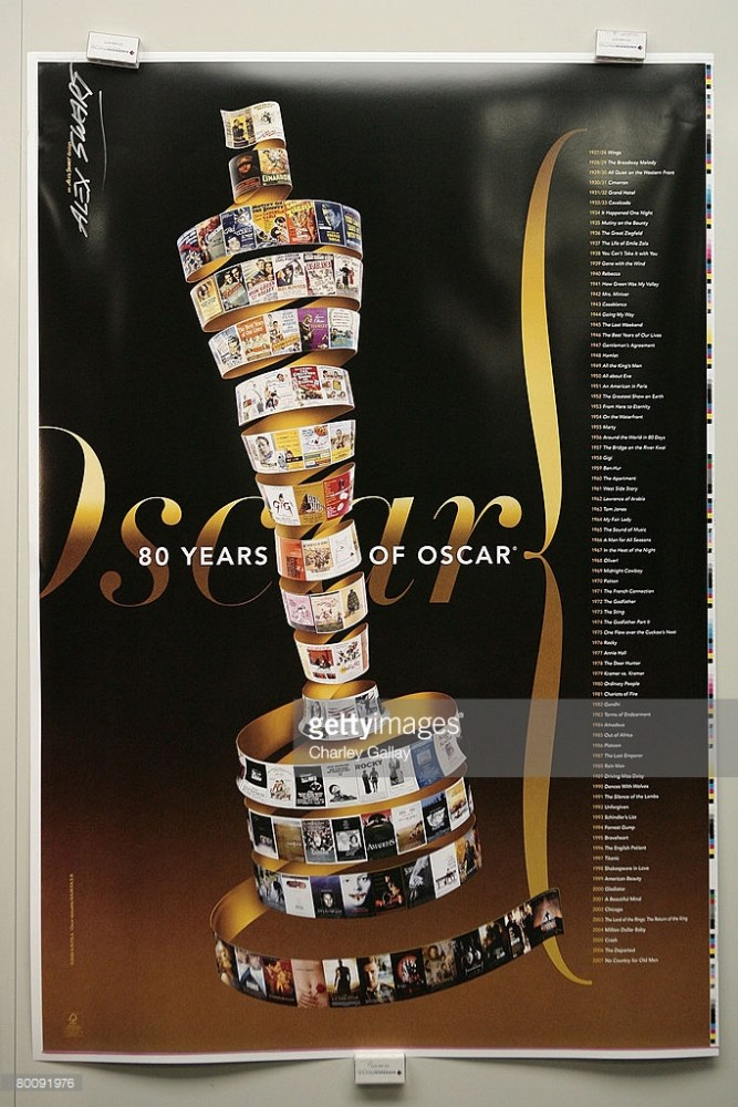 80 years of Oscar poster by Alex Swart