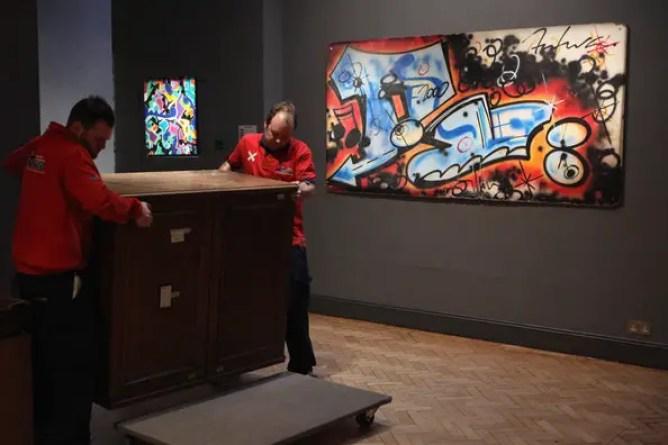 Banksy+Paintings+Auction+Bonhams+Urban+Art+_