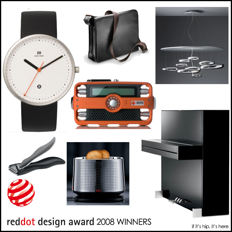 2008 Red Dot Design Award Winners on if it's hip, it's here
