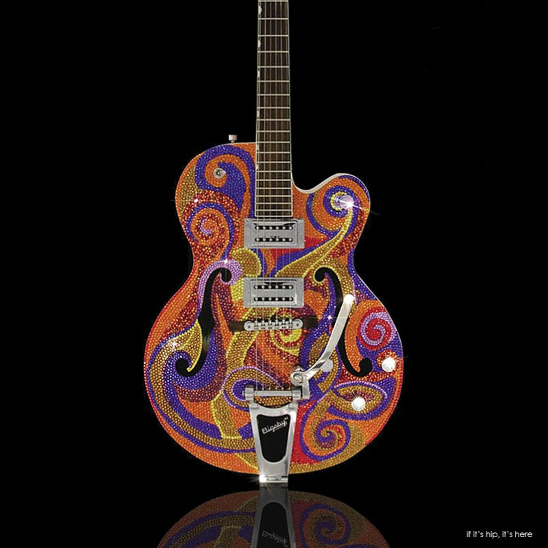 Amanda Dunbars Precious Rebels Art Guitars If Its Hip Its Here