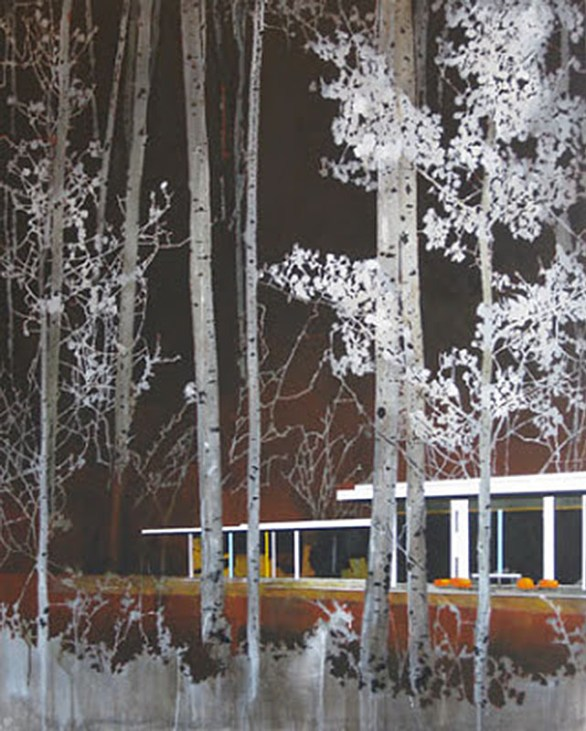 Burnt Aspens and Modern Home by paul davies