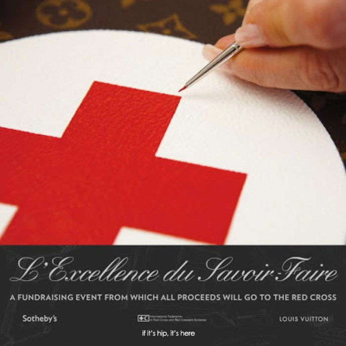 Louis Vuitton Supports the Red Cross