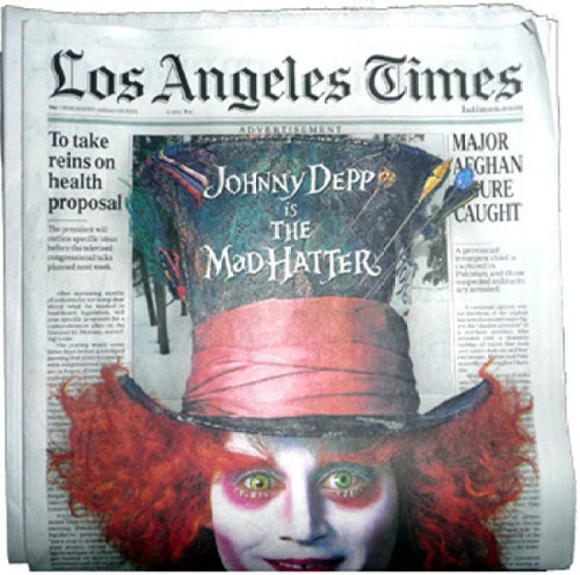 Mad Hatter takes Over L.A. Times