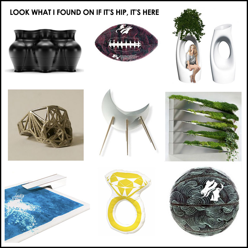 Look what I found! a round up of cool products on if it's hip, it's here