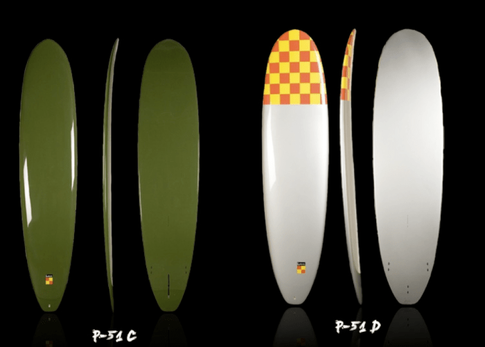Kana surfboards inspired by Fighter Planes