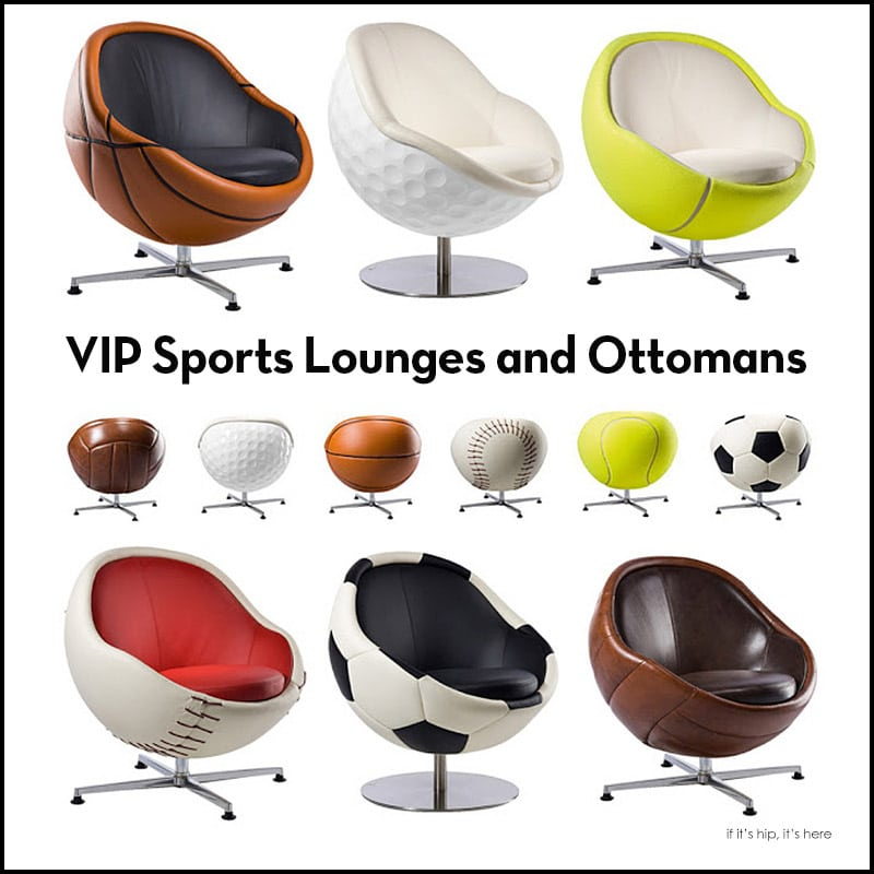 VIP Sports Lounges and Ottomans