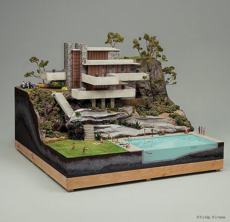miniature mid century architectural models for chillout