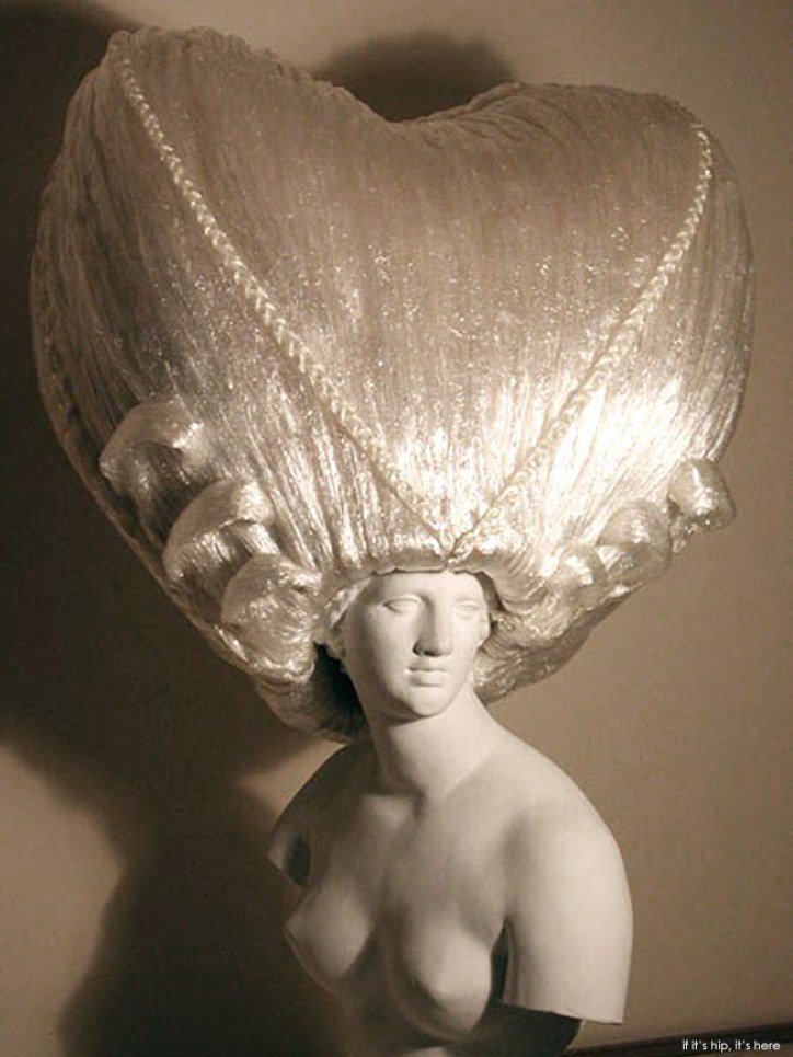 saran wrap wigs