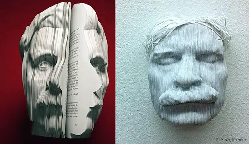 Nicholas Galanin paper sculptures