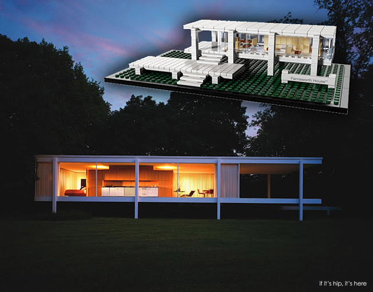 The new lego farnsworth house a look at the original by for Lego house original