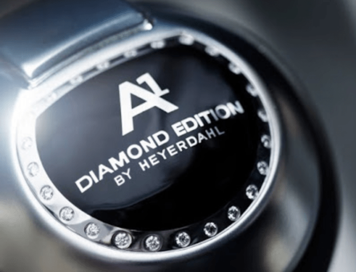 Gearshift know with diamonds
