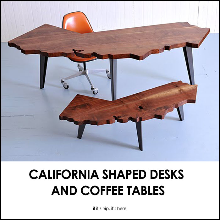 caifornia shaped desks and coffee tables