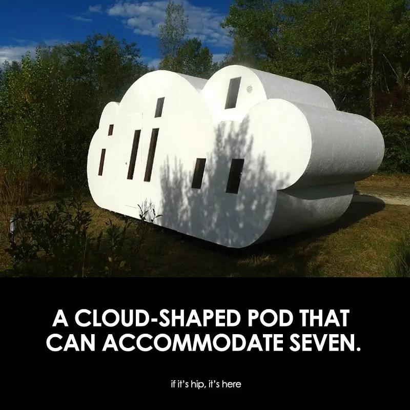 Cloud-shaped Pod That Sleeps Seven