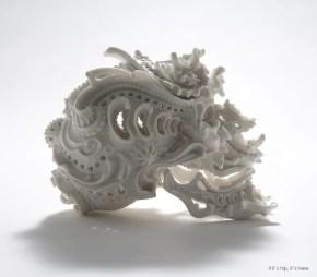 Ornate Porcelain Skulls by Katsuyo Aoki, The Predictive Dream Series.