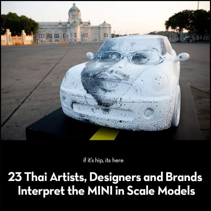 artists design scale model MINIs