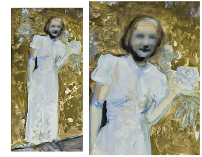 """Marlene Dumas' 2010 """"My mother before she became my mother"""""""