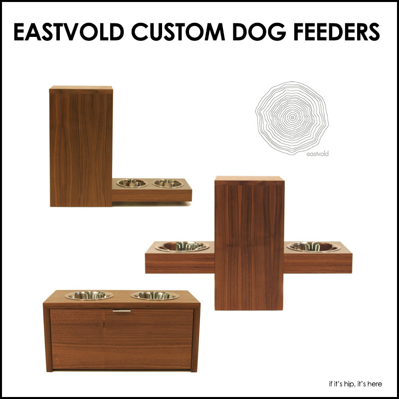 Modern Custom Handcrafted Wood Dog Feeders And Food Storage By Eastvold.