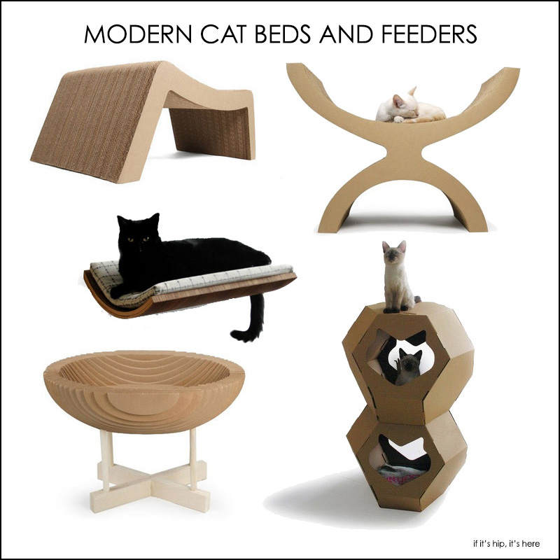 Fabulous Finds For The Fancy Feline. Modern Beds And Bowls To Meow For.