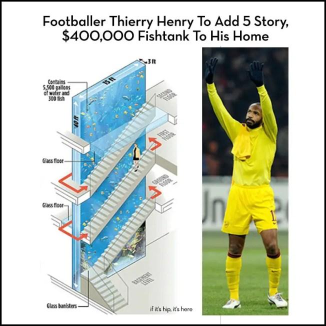 footballer theirry henry fishtank