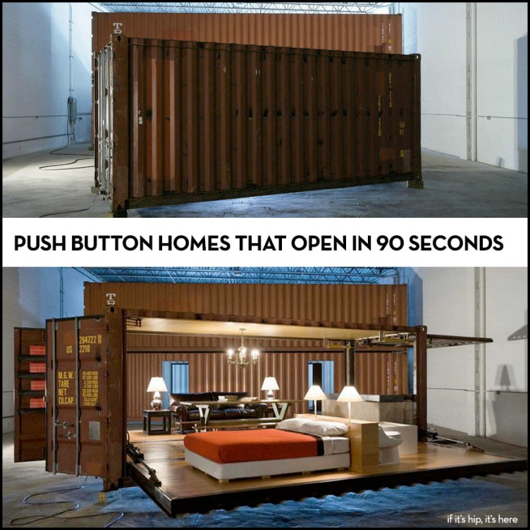 push button container homes on if it's hip, it's here
