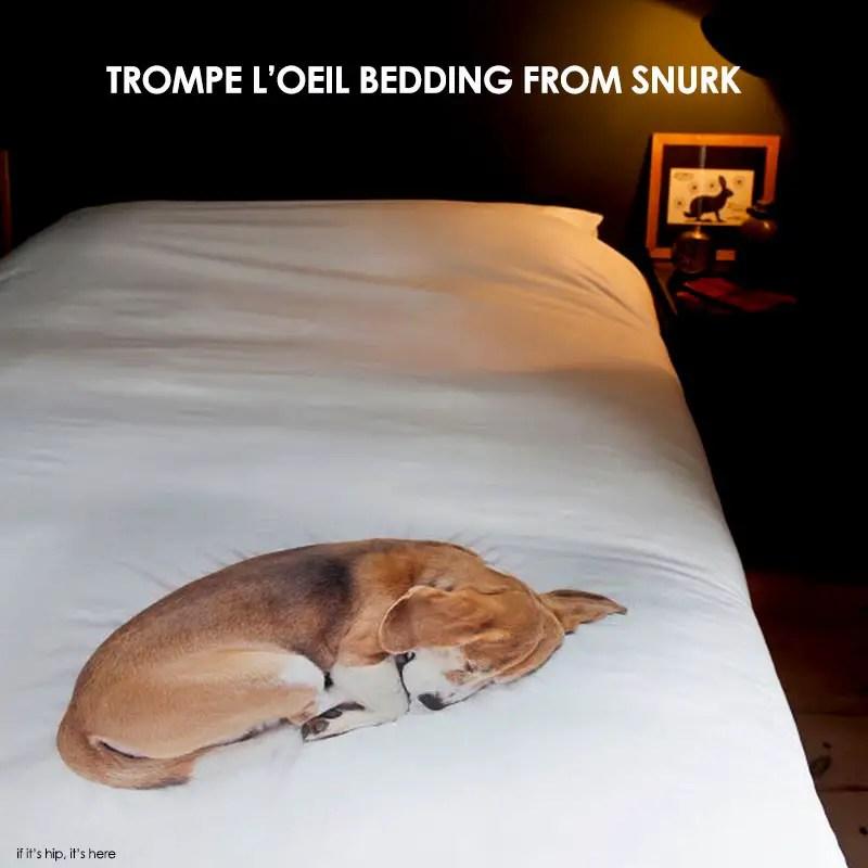 Bob and granny new trompe l 39 oeil bedding from snurk - Trompe loeil hoofd bed ...