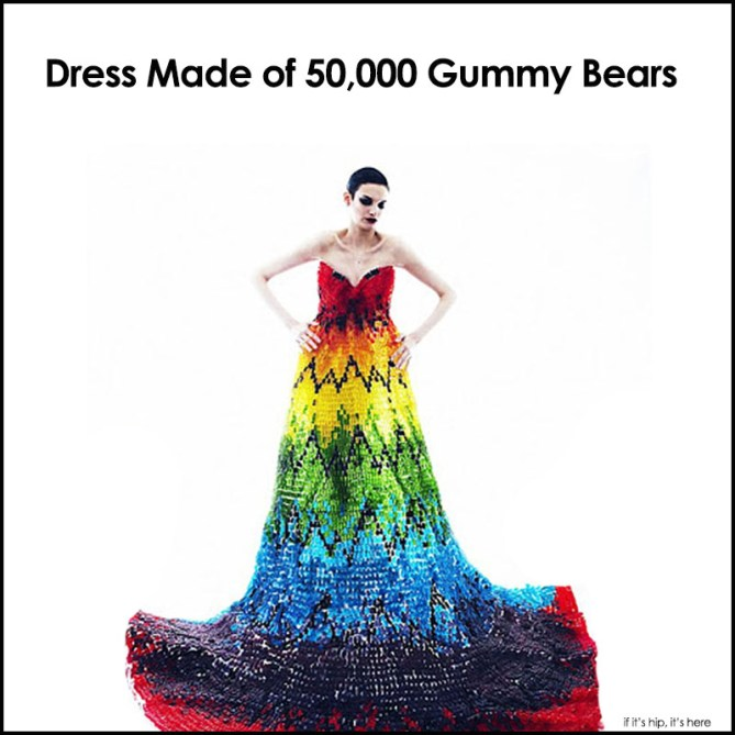 Dress Made of 50,000 Gummy Bears