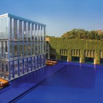 New Modern Luxury Hotel in India Boasts An Enormous Pool and A Living Wall. The Oberoi Gurgaon.