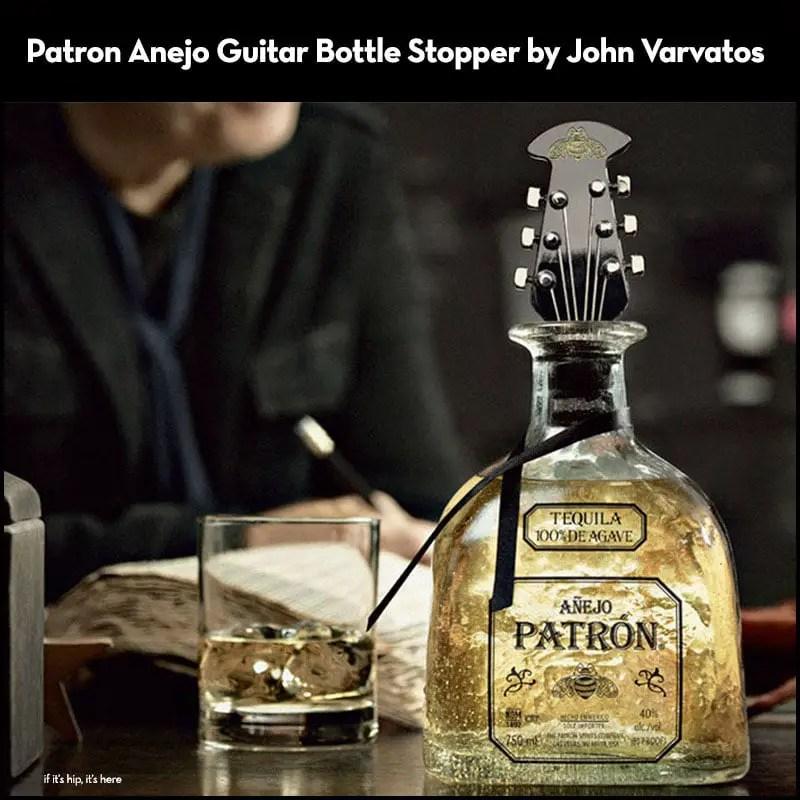Patron-Anejo-Holiday-2012-Guitar-Bottle-Stopper-by-John-Varvatos