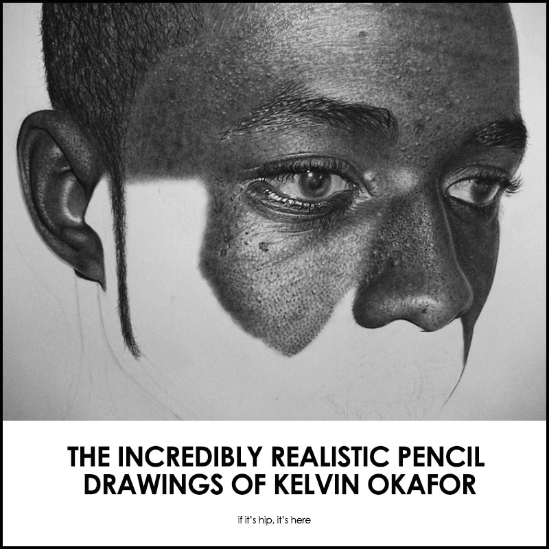 Kelvin Okafur pencil drawings