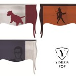 Dressing Up Your Drawers. 70's Pop Imagery On Dressers With Classic Silhouettes From Ypsilon.