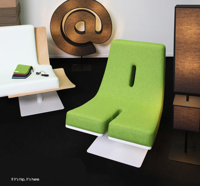 Tabisso letter lounge chairs