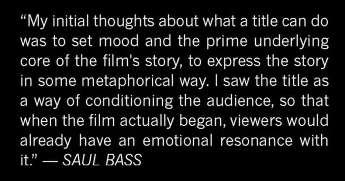 Saul Bass on titles