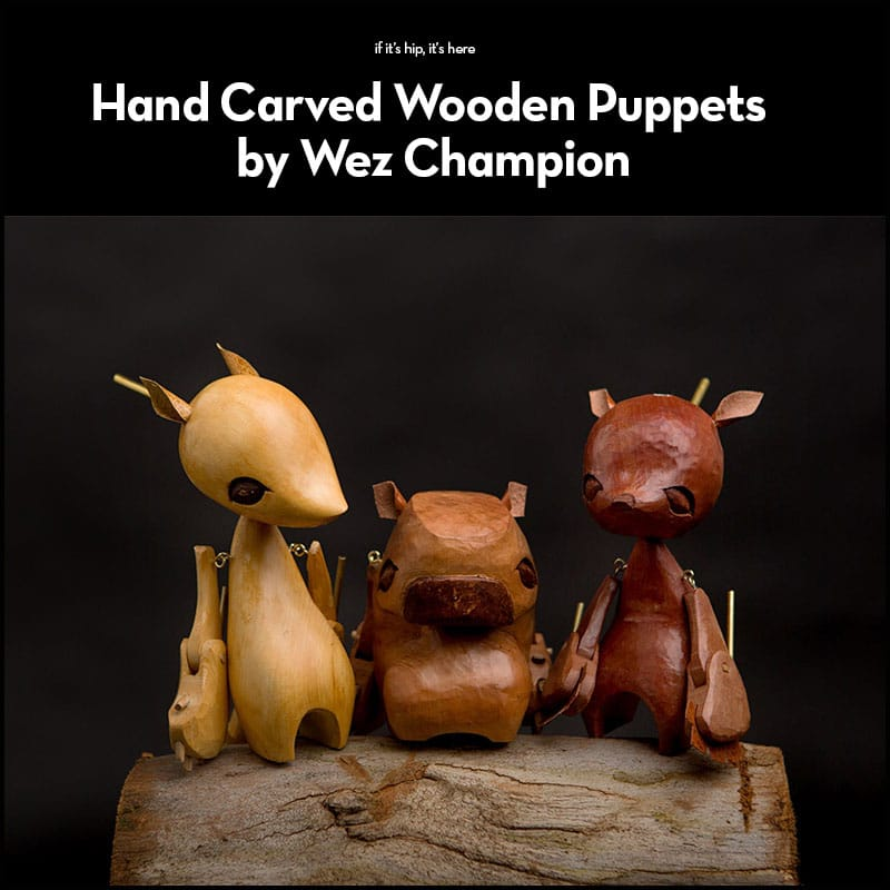 Hand Carved Wooden Puppets by Wez Champion