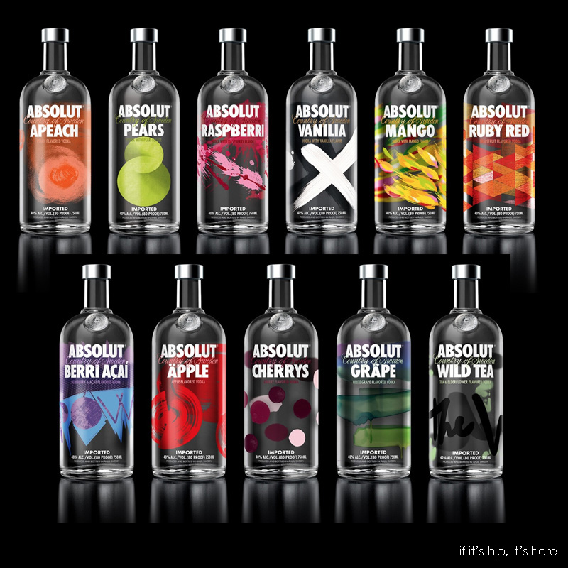 redesigned absolut vodka bottles