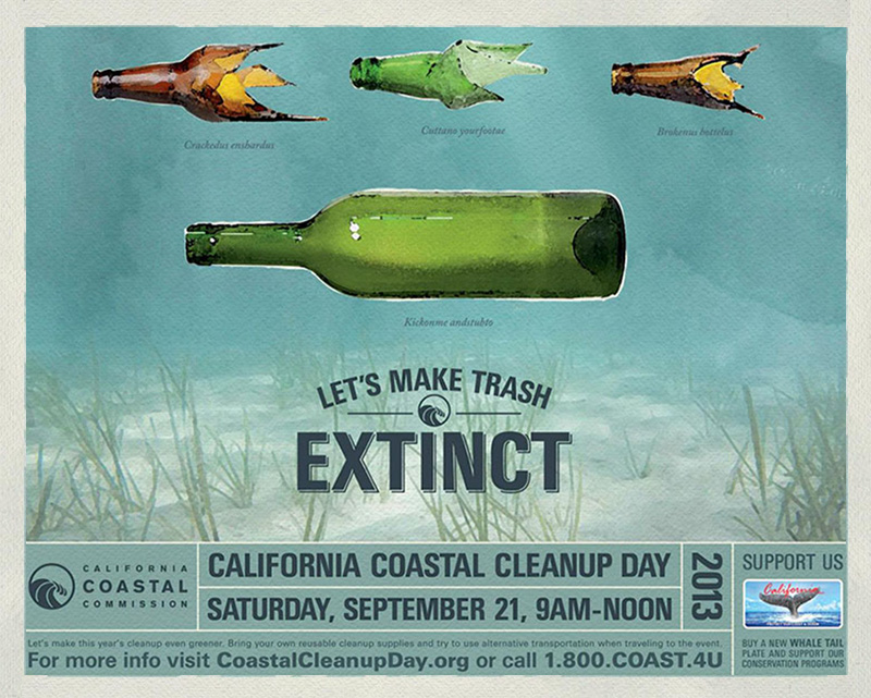 CA Coastal Cleanup Day camapign hero IIHIH