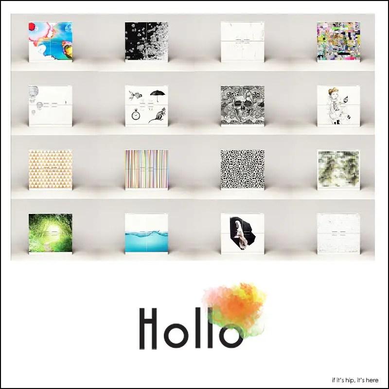 Hollo Printed Customizable Decorative Cabinet